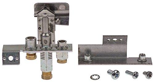 POLIDORO - Quemador de ignición para Falcon G2625, G3925, G3925ES, G31225, G31225ES con soporte (3 focos, gas natural de 4 mm)