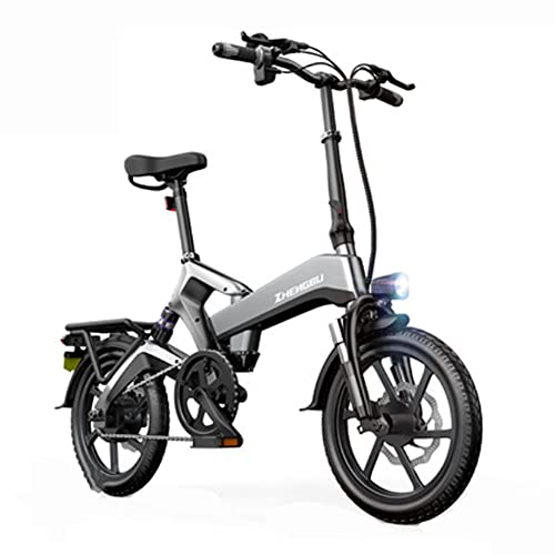 SMDD Bicicleta de Potencia Ultra-Alta de 400 vatios, Bicicletas eléctricas Plegables de neumáticos de 16 Pulgadas, Scooter de Voltaje de 48V, 10Ah Mini Scooters de batería, Bicicleta de batería