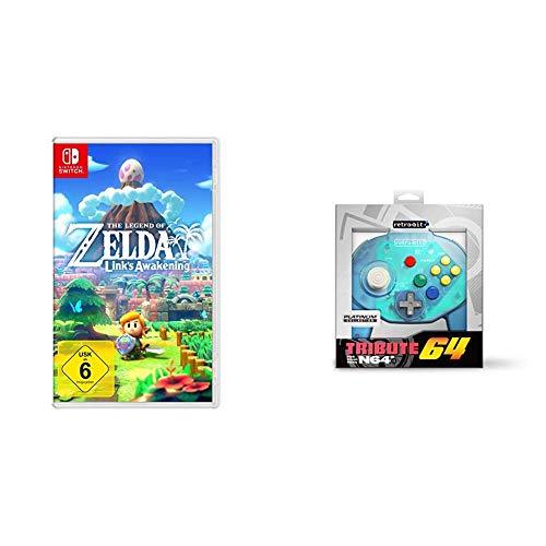The Legend of Zelda: Link's Awakening [Nintendo Switch] & Retro-Bit Tribute 64 for Nintendo 64 - Ocean Blue
