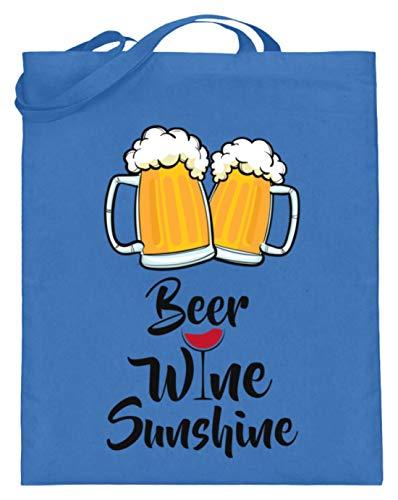 Beer, Wine, Sunshine - Cerveza, vino, sol - Diseño sencillo y divertido...