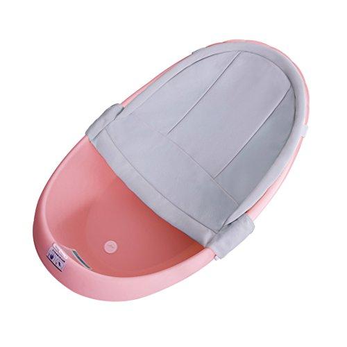 Children's tub Baignoire Bébé, Nouveau-né Peut S'asseoir Et Se Coucher Bébé Baignoire Multi-usages, Produits De Bain pour Les Enfants Épaissis, Nanayaya (Couleur : Pink b)