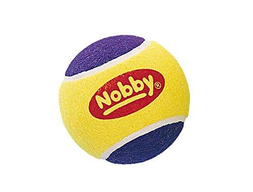 Nobby Balle de Tennis pour Chien Jaune/Mauve 13 cm