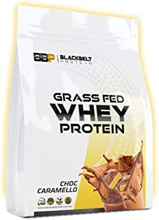 Black Belt Protein Whey Protein Concentrate - Aids Muscle Recovery, Builds Lean Muscle (Choc Caramello, 1KG)
