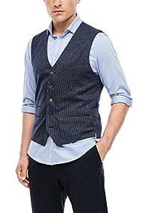 s.Oliver BLACK LABEL Herren 160.10.009.15.155.2055286 Blazer, Dark Blue Check, 52