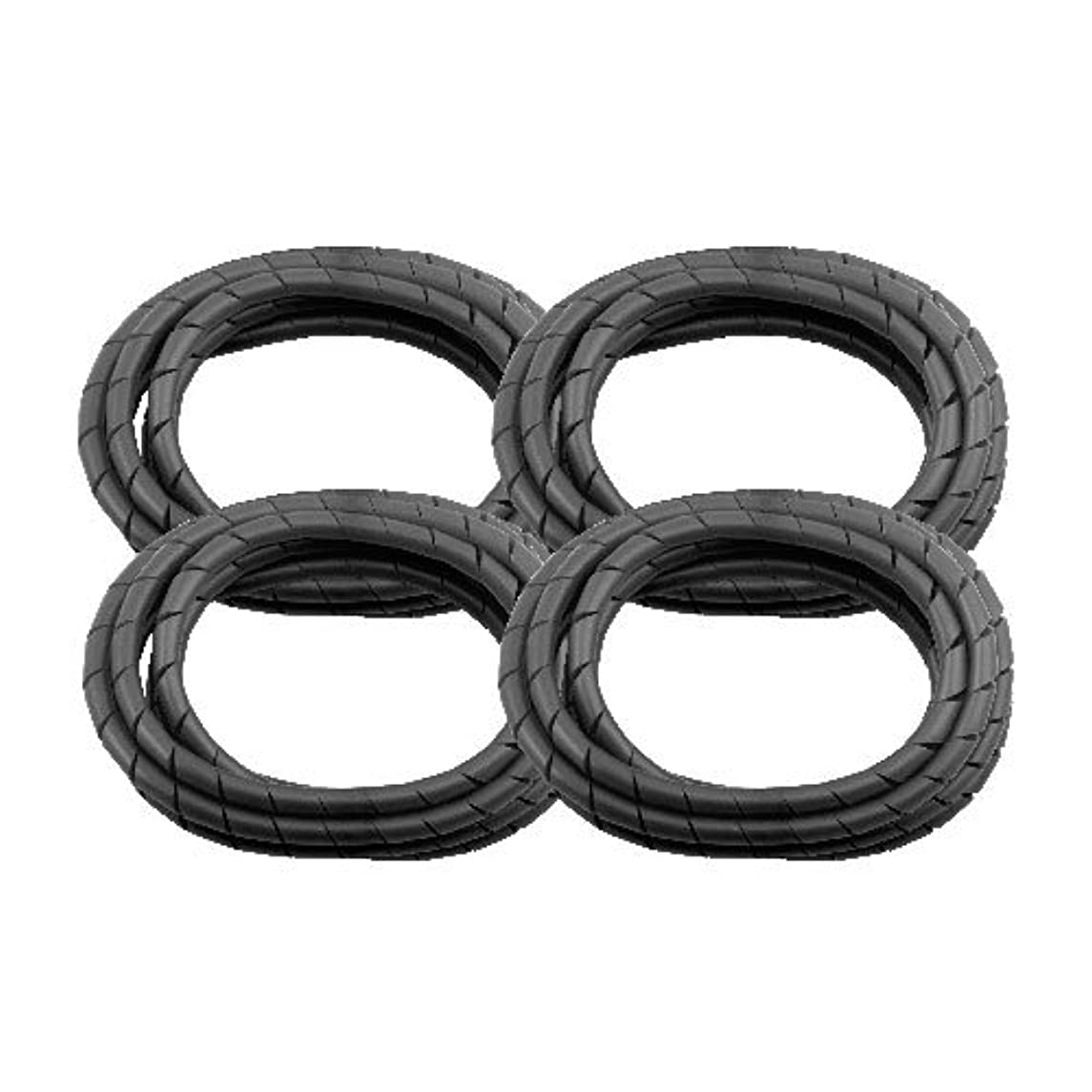 4 Pack MD Premium 8' Cord Cover Prevents Cord Tangling - Black