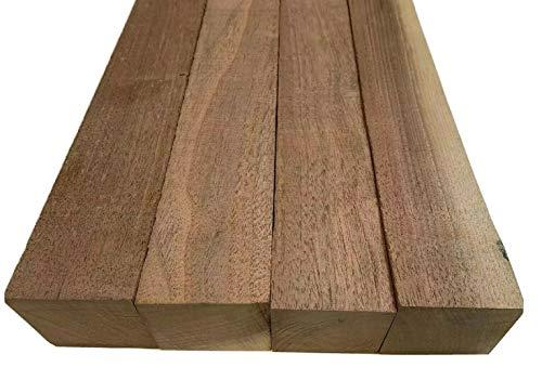 Pack of 4 American Black Walnut Lumber Board, Suitable Square Wood Turning Blank (2