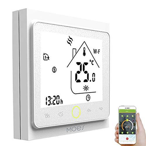Decdeal - Termostato Inteligente WiFi programable, Temperatura controladora, calefacción del Agua para casa, Compatible con Alexa/Google Home
