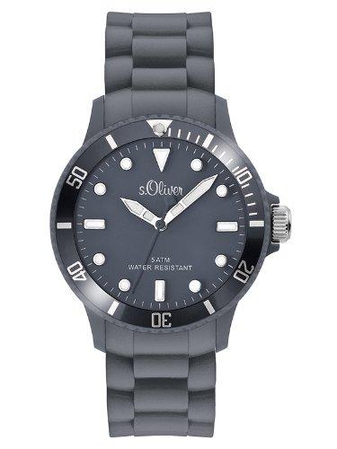 s.Oliver Unisex-Armbanduhr Analog Silikon - SO-2579-PQ - grau