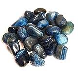 5x grandi pietre semipreziose di agata blu cristallo–Healing Crystal–Protezione, positive Thinking, Joy, purificazione, calmante–cristallo terapia Tumblestone