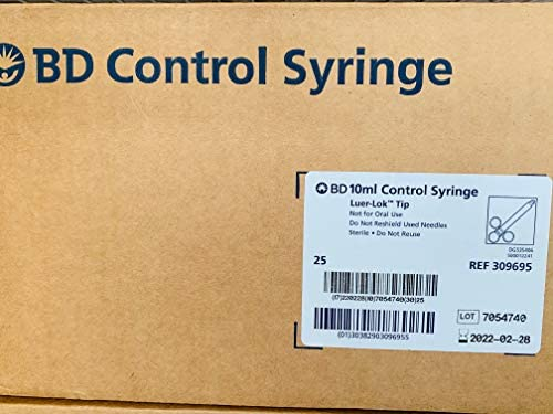 BD 10ml Control Syringe Luer Lok Tip 25 Individual Wrapped Per case product image
