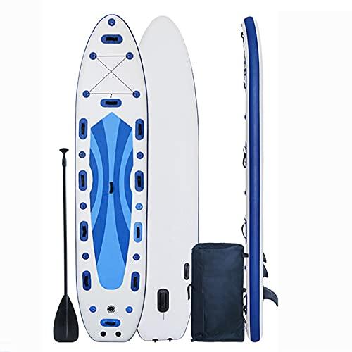 MXSXN Tabla De Remo con Señuelos De 14.7 'Tabla De Remo Inflable Tabla De Surf De Rescate Tabla De Surf Ensanchada Patineta De Agua Tabla De Remo Sup Se Puede Equipar con Energía