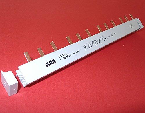 ABB Stift-Phasenschiene 3-phasig PS3/12 pro M compact, ablängbar,10mm², 12 Teilungseinheiten, für ABB Sicherungsautomaten