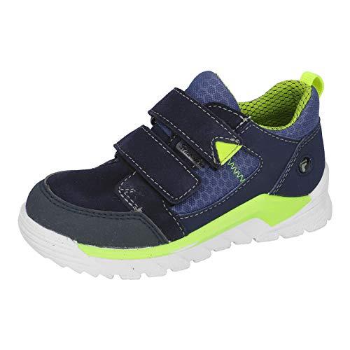 RICOSTA Kinder High-Top Sneaker MARV, Weite: Weit (WMS),wasserfest, doppelklett-Verschluss Jungen Kinderschuhe toben,Nautic/Reef,26 EU / 8 Child UK