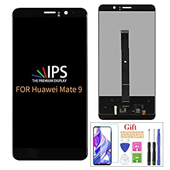 for Huawei Mate 9 Screen Replacement,LCD Screen for Mate 9 MHA-L09 MHA-L29 AL00 L23 5.9  LCD Display Touch Screen Digitizer Panel Assembly Full  NO Fit for Mate 9 Lite   Black no Frame