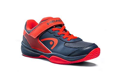 Head Sprint Velcro 3.0 Jnr, Zapatillas de Tenis Unisex Niños, Azul (Dark Blue/Neon Red Mnnr), 35 EU