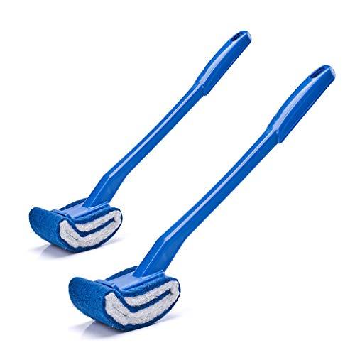 Buitengewone zachte schuine borstelharen reinigen zonder schuine hoeken, kunststof hoekborstel met lange handgreep, zachte badborstel voor badkuip, opvouwbaar voor de badkamer.