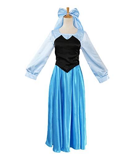 NNW Kostüme für ErwachseneHalloween Outfits Anime Prinzessin Little Mermaid Princess Erwachsener Kleid Cosplay Anime Kostüm-Damen Kleid,L
