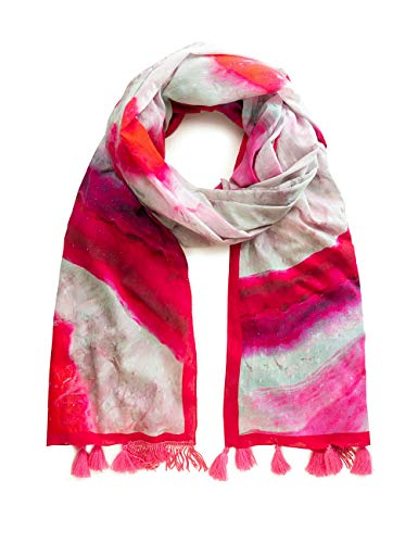 Desigual dames Foul_Liquid Stone sjaal, roze (Fucsia 3002), één maat (fabrikantmaat: U)