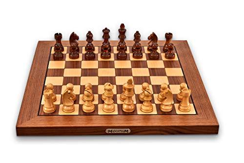 Millennium ChessGenius Exclusive - Jeu d'échecs électronique pour Le Confort et l'exigence Les Plus élevés. en Bois véritable avec détection entièrement Automatique des pièces.
