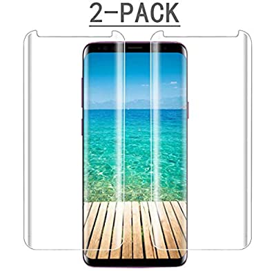 Galaxy S9 Plus Screen Protector, (2-Pack) Tempered Glass Screen Protector[3D Curved][9H Hardness][Force Resistant Up to 11 Pounds][Easy to Install][Case Friendly] Compatible for Samsung Galaxy S9 Plus