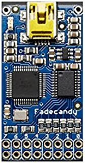 Amazon Com Adafruit Fadecandy Dithering Usb Controlled Driver For Rgb Neopixels Ada1689 Computers Accessories