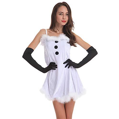 Lumemery Disfraz de muñeco de Nieve de Navidad Traje de Navidad Disfraz para Mujeres Adultas Hombres Disfraz de...