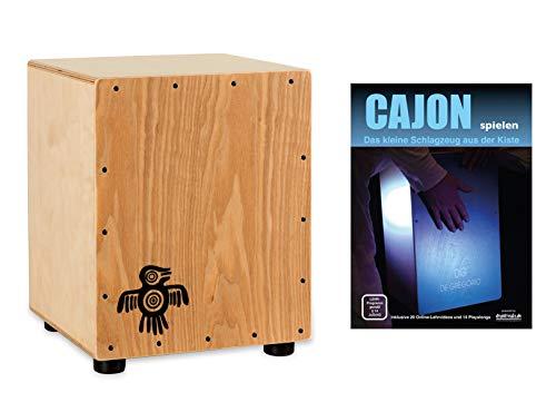 XDrum PERC CP-371 Junior Cajon Peruana asset (set incl. Cajon met slechts 37 cm hoogte, perfect voor kinderen, bijpassende rugzak voor veilig transport en opslag en cajonschool voor beginners)