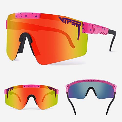 Gafas Sol Polarizadas Ciclismo Hombre Mujer UV400 Y Montura De TR-90, Gafas Sol Deportivas para Running MTB Bicicleta,9