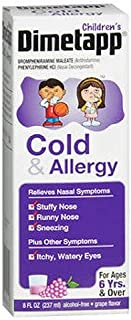 Dimetapp Children's Cold & Allergy Relief Liquid-Grape-8 oz