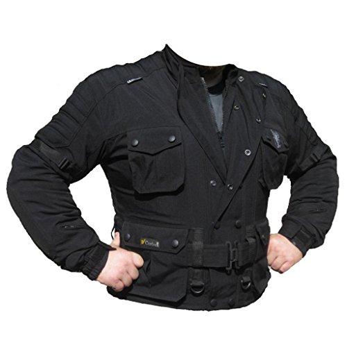 Skorpion ADVENTURE Motorrad- und Freizeitjacke aus dem speziellen Textilstoff Dupont-Cordura. Wind- und Wasserdichte Jacke in schwarz, Gr.: 6XL
