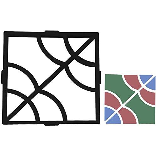 YLEI Pflasterform Gehweg Betonpflaster Gießform, einfach zu gießen Beton gießform, robuster Kunststoff, Solide und Stabil, für Gehwegen, Trittsteinen, Garten