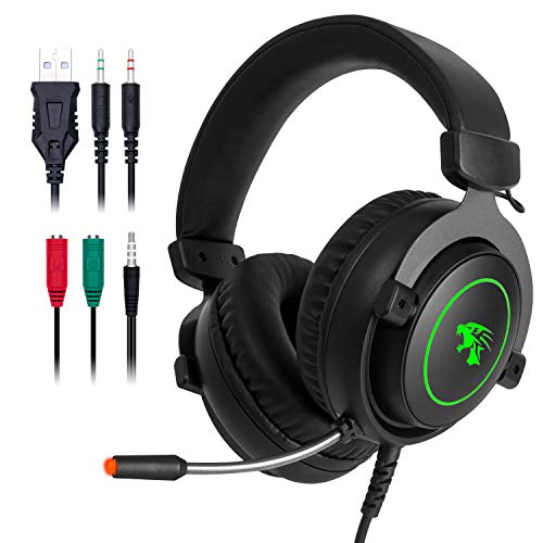 JP-Technology Stereo Gaming Headset with Microphone,Combatwing PS4 Headset Surround Sound PC Headset with Noise Canceling Mic Best Gaming Headphones for PS4/PS2/PC/Mac/Cellphones