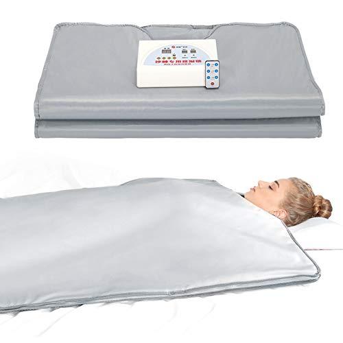 HUKOER Manta de Sauna de infrarrojo lejano, Mantilla de Adelgazamiento, máquina de Terapia de desintoxicación de Sauna para Perder Peso, Anti envejecimiento y Alivia la Fatiga física