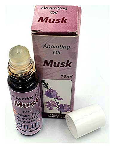 Zuluf Authentic Fragrance from Jerusalem Musk Anointing Oil Jerusalem Holy Land 10ml (.34 fl. oz.) Roll-On Bottle Israel | Christian Jewish Messianic Anointing Oil | Religious Spiritual Oils PER013
