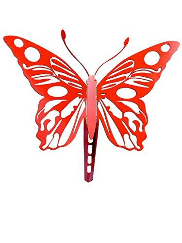 """Gartenstecker, Beetstecker Tier, Figur, Skulptur, Schmetterling """"Apetura"""" (Rot), ein besonderes Geschenk auch zu Weihnachten und ein echtes Schnäppchen als Präsent für Ihre Frau, wunderschöne Geschenke aus Metall zum Geburtstag. Witterungsbeständig statt"""