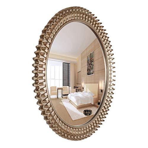 Espejos de Aumento de Pared Cuarto De Baño De Pared Espejo De La Habitación Colgando Jardín Espejo Decorativo Retro Vestirse Espejo Espejo del Baño (Color : Silver, Size : 92.5 * 92.5cm): Amazon.es: Hogar