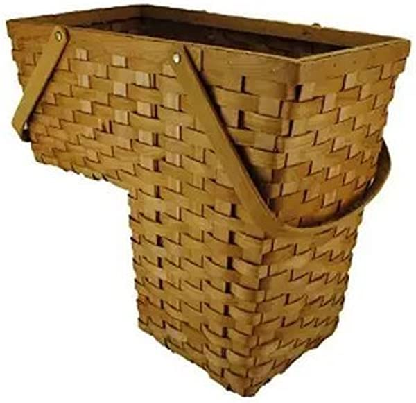 Topot Woodchip Stair Step Basket With Swift Handles