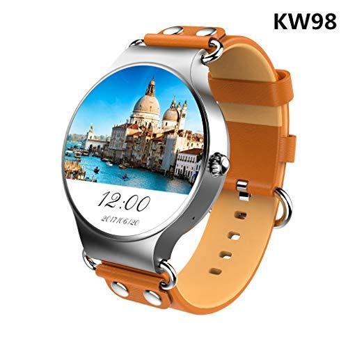 JingJingQi Smart Watch Nieuwste KW98 Smart Horloge Android 5.1 3G WiFi GPS Horloge MTK6580 Smartwatch iOS Android voor Samsung S3, Xiaomi PK KW88