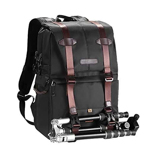 Bolso Ordenador Mochila de la cámara La bolsa de la cámara de nylon se adapta a 15.6 pulgadas de agua resistente al agua con soporte trípode bolsas de cámara DSLR para hombres mujeres Maletín para Ord
