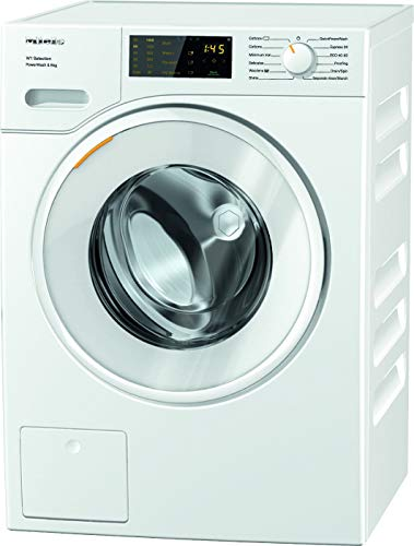 Miele WSD323 Freestanding Washing Machine with Quick Powerwash, 8kg Load, 1400rpm spin, White