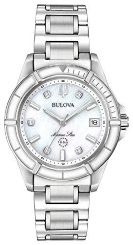 Bulova Damen Analog Quarz Uhr mit Edelstahl Armband 96P201
