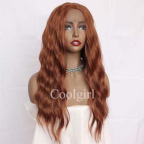 Missyvan, parrucche sintetiche in pizzo frontale, ondulate, colore arancione scuro, 30 # per le donne dei capelli del bambino medio separazione resistente al calore