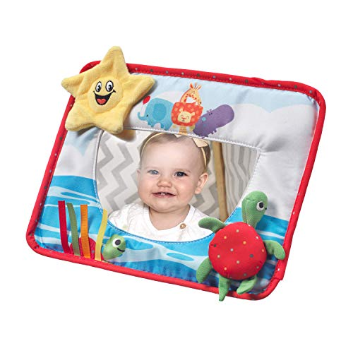Nuby Tummy Time Activity Mirror, Sensory Toy for Babies Aged 6 Months Plus