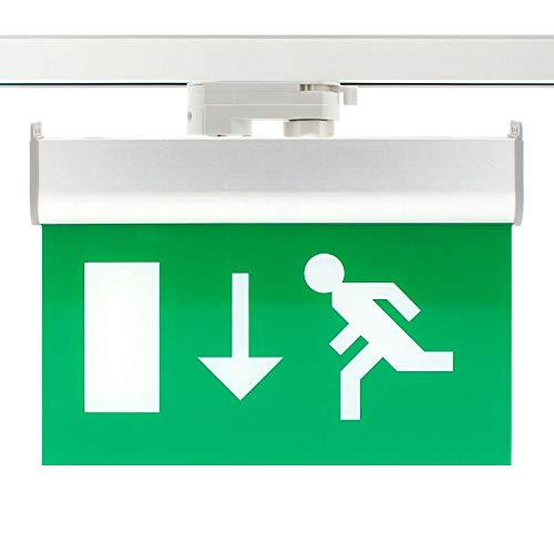 DK Multitec Luce di emergenza permanente per cavo Trifase di emergenza su rotaia (Verde)