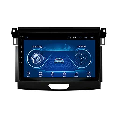 Autoradio Bluetooth Android 8.1 9 Pollici Stereo Auto Car Video Radio Player per Ford Ranger 2016-2019 con USB AUX in WiFi Supporta Dab Link Mirror Controllo del Volante