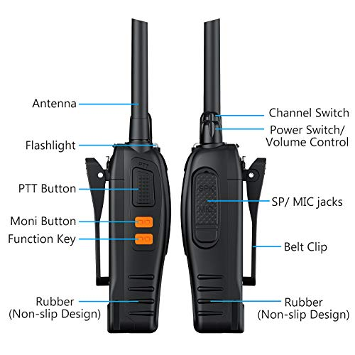 eSynic 4Pcs Walkie Talkies- 2 Way Radio Long Range Rechargeable Walkie Talkie Portable Handheld Walkie Talkies for Adult…