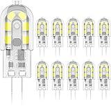 Phoenix-LED G4 Bombilla,2W Equivalente a 20W Halógena, Blanco Frío 6000K, 200LM,AC/DC 12V,Pack de 10 Unidades