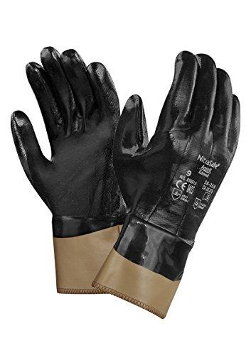 Ansell Nitrasafe 28-359 Guanto di Protezione meccanica contro il taglio, Nero, Taglia 10 (12 Paia)
