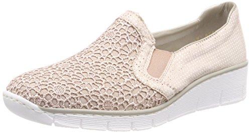 Rieker Damen 537T4 Slipper, Pink (Altrosa/Nude-Silver), 40 EU