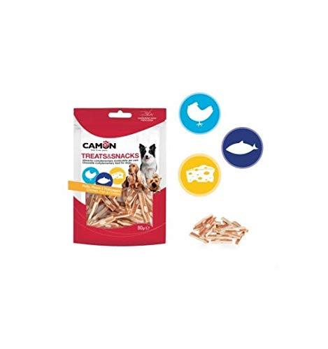 Camon Treats&Snacks Bocconcini al Pollo, Pesce e Formaggio 80g